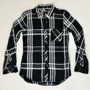Rails XS Black/White Button Down Shirt